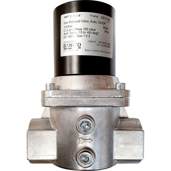 Banico Gas Solenoid Valve with automatic reset